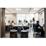 sala de coworking completo